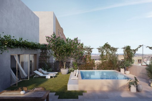 Beautiful apartment with 2 bedrooms and small balcony in new built passive house in Palma