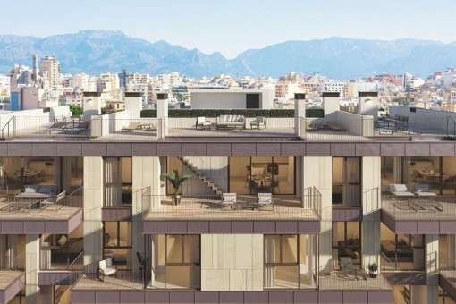 Luxury and sunny new construction apartments with highest qualities located in a desired area of Santa Catalina.